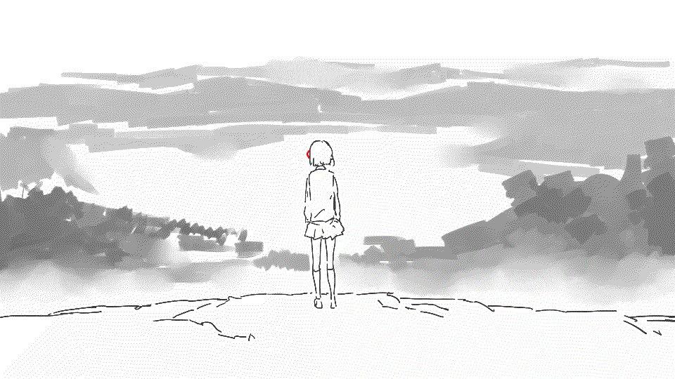 中国のアニメーター漩涡uzumakiさんの「君の名は。(你的名字。)」GIFアニメ