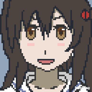 るう子 gifバージョン初めてgif作ったから雑だ……。#dotpict  #ドット絵 #pixelart #selec