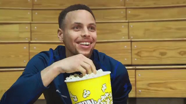 You already know @StephenCurry30 is celebrating #NationalPopcornDay 🍿