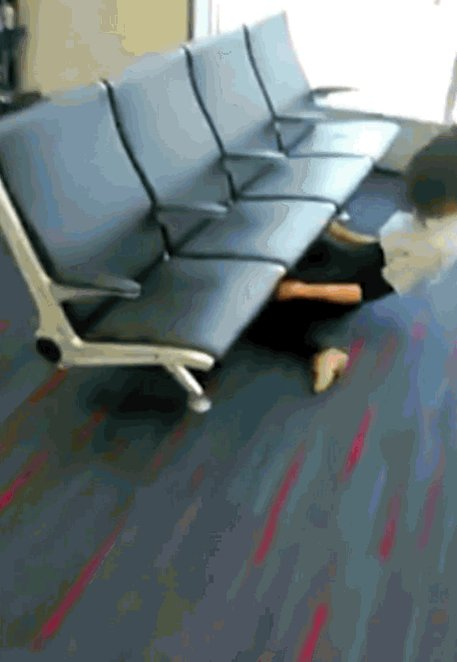 This limbo world-record-holder showed off her skills while killing some time at the airport