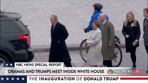 Pres. George W. Bush and First Lady Laura Bush have arrived for #InaugurationDay.