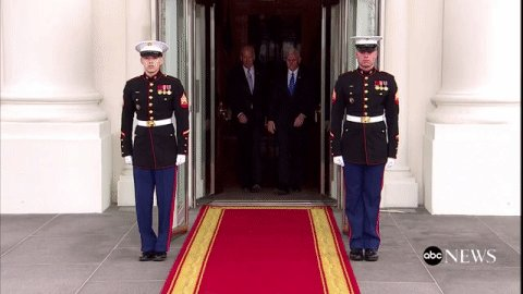 .@VP Biden, VP-elect @mike_pence exit White House ahead of #inauguration https://t.co/aemExNNIyt