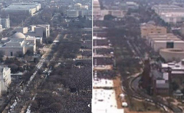 Les cérémonies d'investiture d'Obama (2009) et de Trump (2017) #inauguration https://t.co/6Cyv9XBzFs