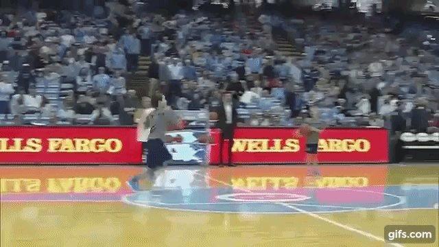 12yo ball boy shocks crowd by sinking three (!) half-court basketball shots (VIDEO)