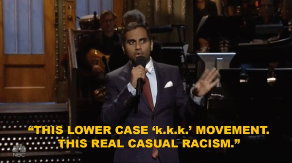 Watch #SNL host Aziz Ansari deliver scorching anti-racist monologue https://t.co/41n9agCQEG
