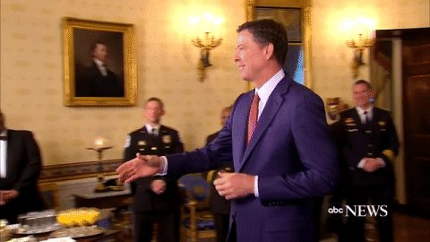 Pres. Donald Trump greets FBI Director James Comey at the White House https://t.co/IeAhhAOopy