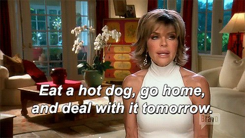 RT @housewifegifs: Me convincing myself to procrastinate on all of my responsibilities #RHOBH @lisarinna https://t.co/CwKSDCQzSX