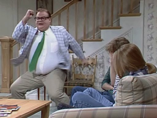 This comedy legend would have been 53 today. Happy birthday Chris Farley. Watch your head.
