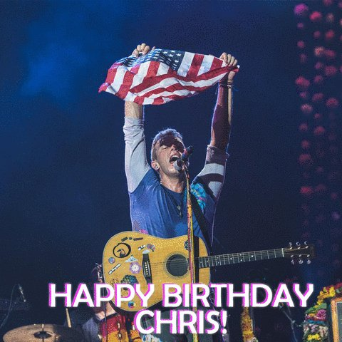 Happy Birthday, Chris Martin! See you at this summer :) pc: