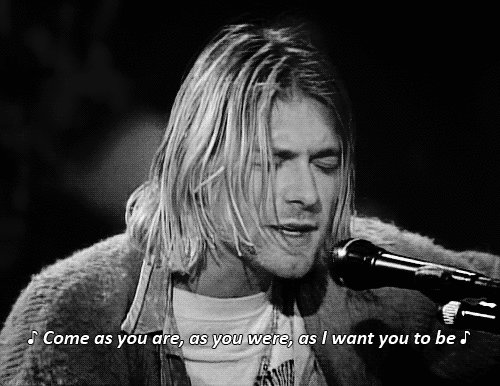 Here\s a gif of Kurt Cobain, singing my favorite song happy 50th birthday you legend!!