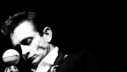 """Until things are brighter, I\m the man in black.\"" Happy birthday, Johnny Cash! (February 26, 1932)"