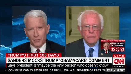 "Bernie Sanders on Donald Trump's discovery that health care is ""so complicated"" LOL"
