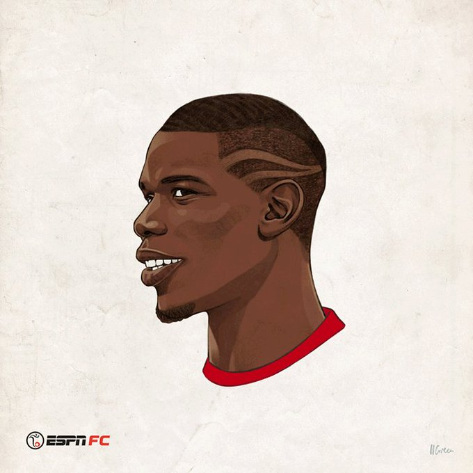 Happy 24th birthday, Paul Pogba!   Here\s to many more haircuts!