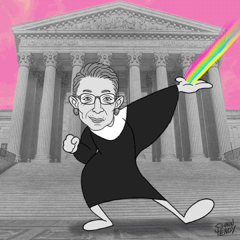 Happy birthday to Ruth Bader Ginsburg! Here\s to many, many, many, many more.