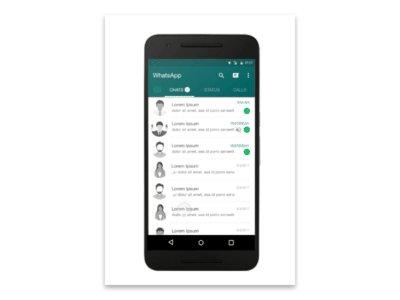 WhatsApp Redesign concept   Mockup by Rajesh Maa Tam freebie