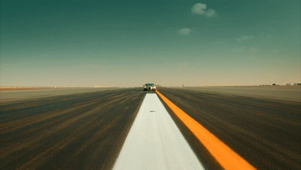 Never has driving in a straight line been so unbelievably satisfying. #TopGear