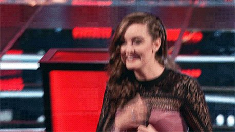 There's was no way Blake could let her go so RETWEET and welcome @carolinesky to #TeamBlake now! #VoiceBattles