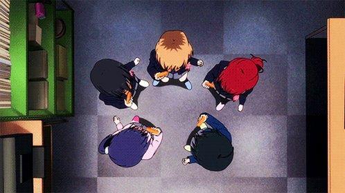 もう多分既出だと思いますが!今江くんの日誌の「どんどんドーナツどーんといこう!」はSHIROBAKOというアニメのやつ〜