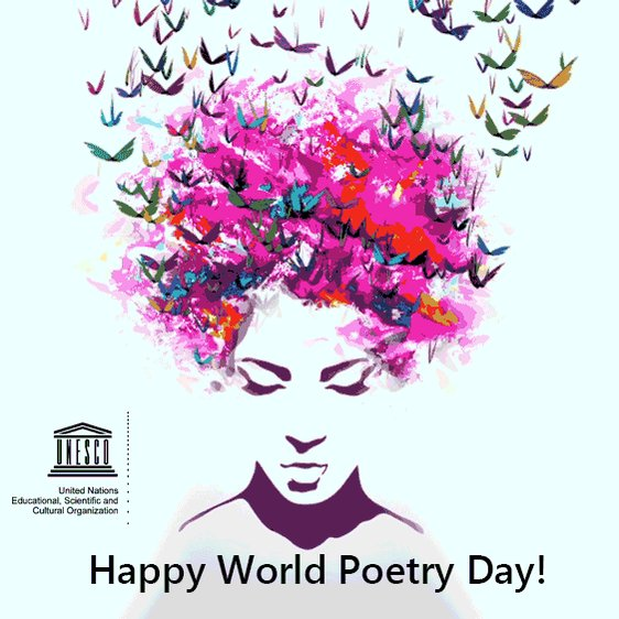 March 21 is #WorldPoetryDay! Let's celebrate #poetry's power to shake us from everyday life https://t.co/IkJAFHBSto
