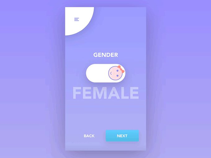 Gender Toggle Button   Icons by Mohamed Nasser freebie