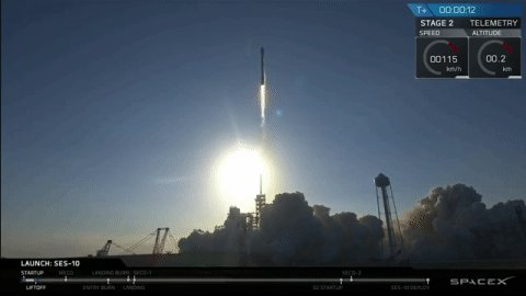 SpaceX successfully launches and lands a recycled rocket