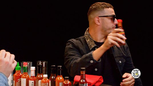 . @djsnake had some stern words for the makers of Mad Dog 357 on this week's Hot Ones: https://t.co/rpknuNzYEN https://t.co/Wi9aFUoHg2