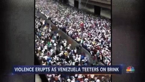 Violence amid mass protests in Caracas and other parts of Venezuela.@Jacobnbc reports now on @NBCNightlyNews.