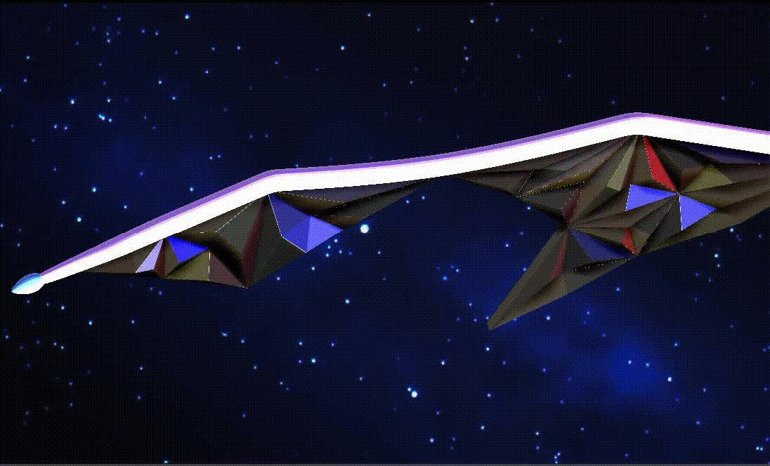 チルシス&アマント光子帆船、結構反響があったので、調子に乗って、簡単なカメラワークをつけてみました(^^;)#plane