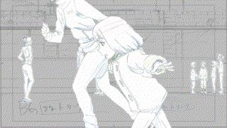 【原画】第11話「メメント・モリ」より原画を掲載です。回想インサートCUT「ジャンプをきめる幼少期の知幸」です。(※原画