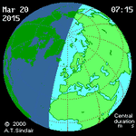 Partial #SolarEclipse in parts of Europe, N Africa & N Asia on Fri. Details & @Slooh webcast: http://t.co/pnnJSDi1U6