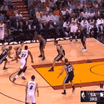GIF: @RealTJohnson finds @YoungWhiteside for a dunk in the 3rd quarter http://t.co/XU0VBVpV8h