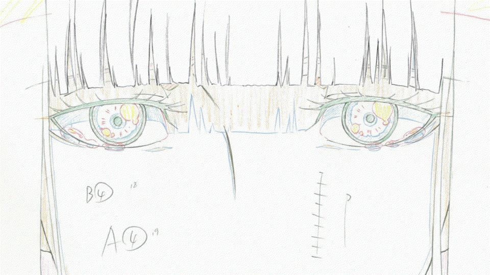 【原画】最終話「スーサイド・ツアー」より原画を一つ掲載です。CUT302「目を見開き涙を流す知幸」。(※原画の動きは本編