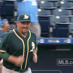 Alex Gordon pulls a fast one on former teammate Billy Butler. http://t.co/72NFBAyoTs
