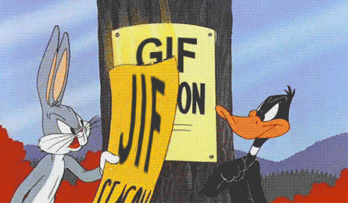 "You know those discussions about how to pronounce ""GIF"" ?  Yeah it resolves itself like this http://t.co/3rGY21s46F"