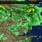Rain to continue this evening and into Sunday - lows in the upper 40s tonight. #hrweather http://t.co/mlhwPwLpOe