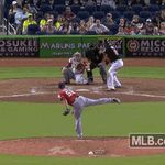 GONE-CARLO! @Giancarlo818 puts an exclamation point on the #Marlins 8-0 win! VIDEO: http://t.co/rK1IaNXH9Y http://t.co/K58Sad7WJV