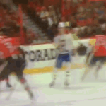 Brendan Gallagher scores an absolute circus goal for Montreal. Geez. http://t.co/f8JoRyrGcd