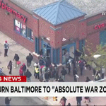 """""""Pandemonium in the streets"""" -- #CVS being looted during #BaltimoreRiots. Watch live: http://t.co/wJSgobnXF1 http://t.co/HTYdYqSnkE"""