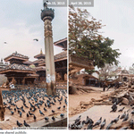 Before and after pictures of the earthquake in Nepal http://t.co/ZjqWHrx0bJ http://t.co/1ound9vM2O