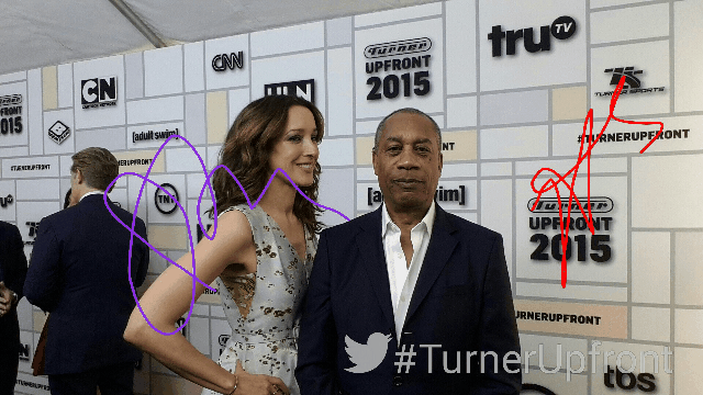 Behind the scenes in the #TurnerUpfront Greenroom with Twitter and  @jenniferbeals and Joe Morton http://t.co/QYAUMdDBGw