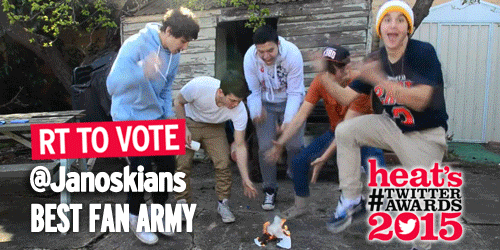 .@janoskians fans! RT this to vote #Janoskianators as the best Fan Army in our #TwitterAwards http://t.co/sma2RQjmlQ http://t.co/tH7YRGtuUu