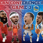 Game time. @Warriors and @HoustonRockets continue the battle tonight in Houston... http://t.co/HGW63UGZqx
