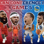 Tip is near. @warriors look to enter @NBA finals while @HoustonRockets try to stay alive. http://t.co/iLqUnzVeMo