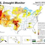 Watch Texas and Oklahoma -- extreme rain is making the extreme drought on this map disappear http://t.co/0x5EUFtR76 http://t.co/BGF2o39VIZ