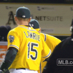 ICYMI: @SVogt1229 and @blawrie13 invent a new handshake after #Athletics win. #GreenCollar http://t.co/8dwT9xxO5b