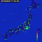 """@dfnt: 今回の地震が広がる様子の動画がすごい…。 http://t.co/Jj7og9cZFv http://t.co/50IFcEyZQM""  これって緑がP波で赤がS波?"