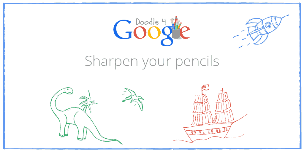 """Register now for Doodle 4 Google. The 2015 theme is """"If I could travel back in time I would…""""  http://t.co/AMLaUCYAMi http://t.co/AE1pdEiOfy"""