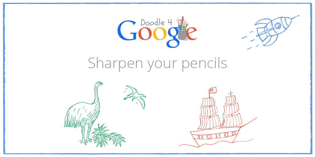 """Register now for Doodle 4 Google. The 2015 theme is """"If I could travel back in time I would…"""" http://t.co/sTWQ6twPKd http://t.co/SowLD6dpRE"""