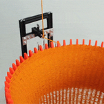 RT @make: Guljajeva & Canet made this hypnotic circular knitting machine that weaves yarn like magic! http://t.co/4wAYEyYU2C http://t.co/3T…