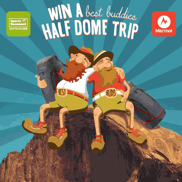 Win 2 spots on an SB Half Dome trip and 2 @Marmot packs. Hurry: We pick the winner on June 30! http://t.co/W6UqkiVTlH http://t.co/NkxyfeNl7E